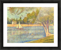 The Seine at the Grand Jatte, Spring by Seurat Picture Frame print