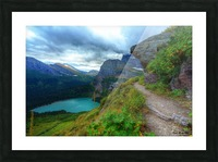 51 -2 Trail to Grinnell Glacier Picture Frame print