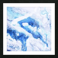 blue abstract marble Picture Frame print