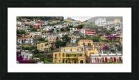 Positan village -  colourful houses Picture Frame print