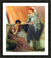 Unconscious rivals, detail by Alma-Tadema Picture Frame print