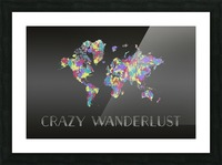 Graphic Art CRAZY WANDERLUST | Splashes Picture Frame print