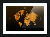 MODERN GRAPHIC ART World Map |  | Redgold Picture Frame print