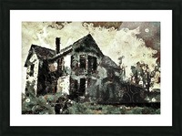 Haunted candy house Picture Frame print