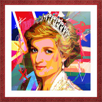 Diana X  Picture Frame print