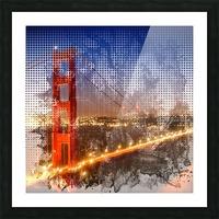 Graphic Art Golden Gate Bridge | watercolour style Picture Frame print