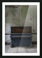 Abandoned Piano Picture Frame print