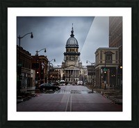 Illinois State Capitol Picture Frame print