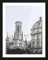 Notre Dame & Shade Picture Frame print