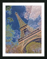 Eiffel Tower- Abstract Picture Frame print