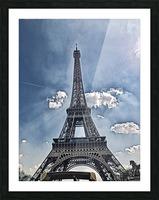 Sky & Eiffel Picture Frame print