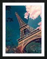 Eiffel Tower- Deep Blue Picture Frame print