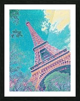 Eiffel Tower- Teal Picture Frame print