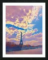 River & Eiffel  Picture Frame print
