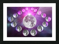 Multi-phase Moonlight Picture Frame print