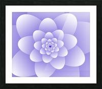Purple Floral Spiral Artwork Picture Frame print