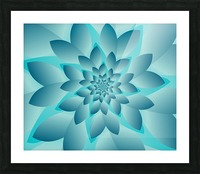Modern Optical Illusion Floral Art Picture Frame print