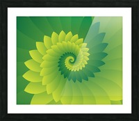 Shiny Greeny Art Picture Frame print