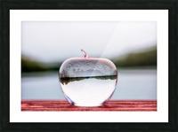 La pomme est dans le ver(re) Picture Frame print
