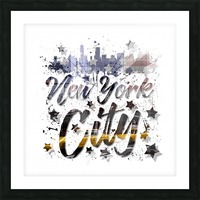 City-Art NYC Composing | Typography Picture Frame print