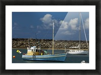 Blue Boat at Apollo Bay 011142609 Picture Frame print