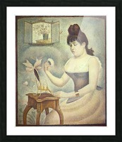 The woman with the powder puff by Seurat Picture Frame print