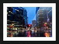 Pluie au centre ville Picture Frame print