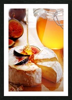 Brie Cheese with Figs and honey Picture Frame print
