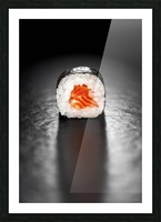 Maki Sushi Roll with Salmon Picture Frame print