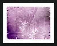 PurplePassion Wave Picture Frame print
