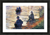 Two Fishermen by Seurat Picture Frame print