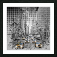 Graphic Art NEW YORK CITY 5th Avenue Traffic Picture Frame print