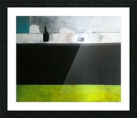 Green Line Still Life Picture Frame print
