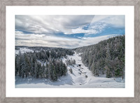 A Boreal Winter Picture Frame print