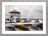 Poker Run At The Shoal Tower Picture Frame print