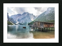 Lake of Braies Picture Frame print