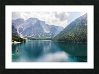 Lake of Braies Picture Frame print