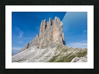 Three peaks of Lavaredo Picture Frame print