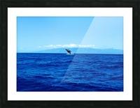 Bigger Blue Picture Frame print