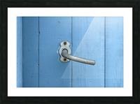 Blue Door Picture Frame print