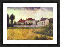 Ville dAvray, The white houses by Seurat Picture Frame print