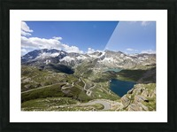 Landscape of Gran Paradiso Picture Frame print