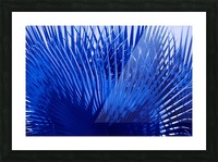 Blue Palms Picture Frame print