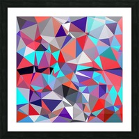 geometric triangle polygon pattern abstract background in red blue purple Picture Frame print