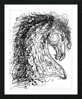 ''Horse''  Inspired by Dripped Abstract Pollock Style  Picture Frame print