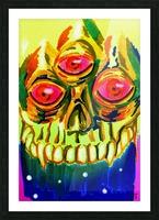 Three eyed skull painting Impression et Cadre photo
