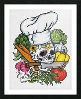 Dia de los Muertos Chef Picture Frame print