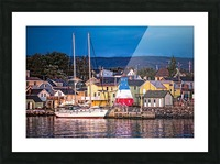 Cheticamp Waterfront at Sunset Picture Frame print