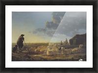Schafherde auf der Weide Picture Frame print