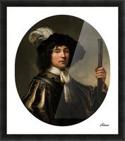 Portret van een jonge man Picture Frame print